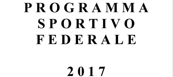 Programma Sportivo Federale 2017