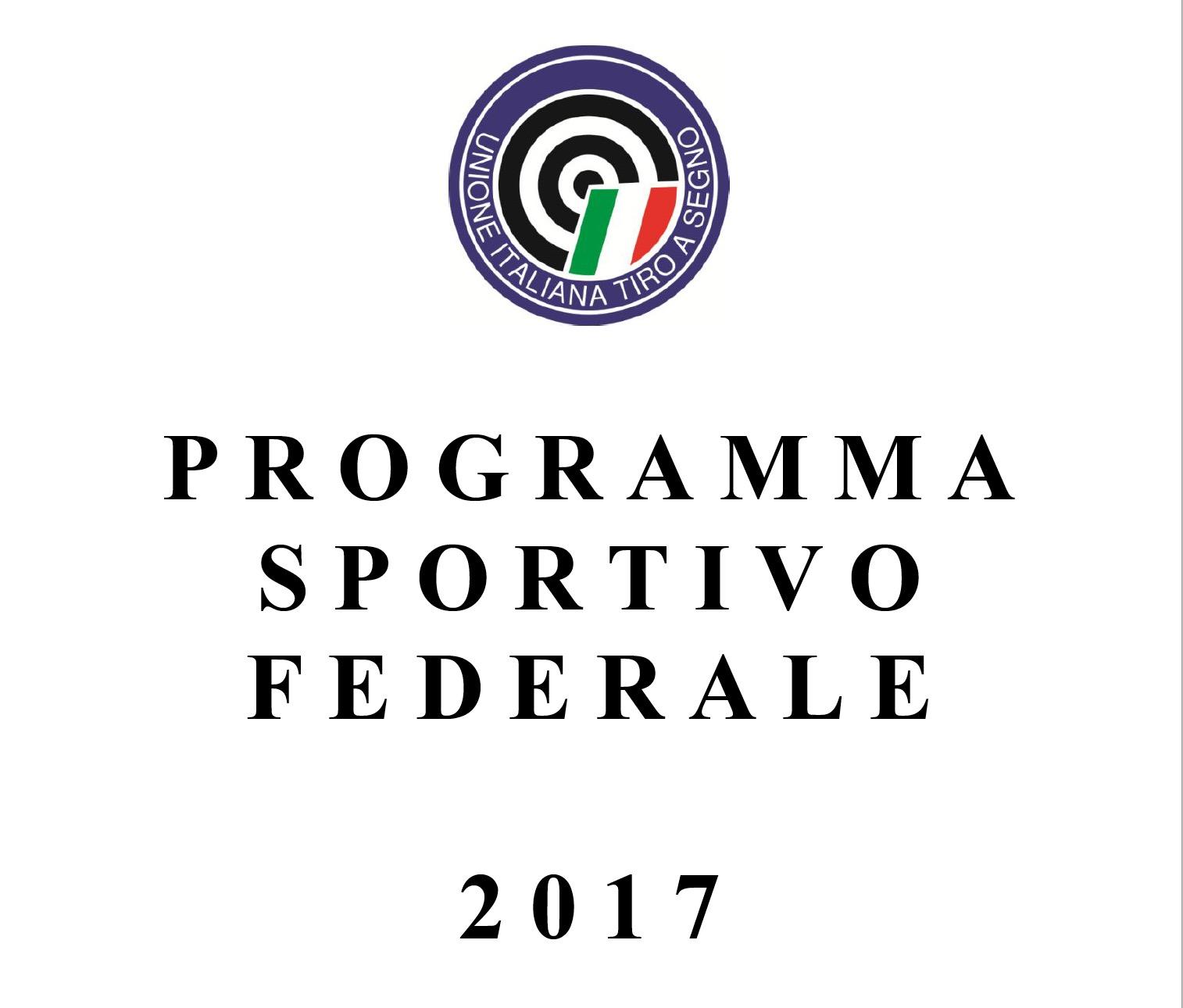 Programma sportivo federale 2017 tsn bagheria - Porta d armi uso sportivo ...