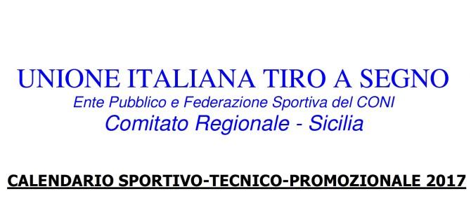 Programma Gare TSN Sicilia 2017